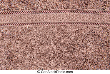 Brown color of fabric pattern background