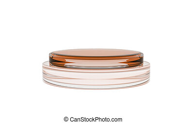 brown color of round glass stand for display