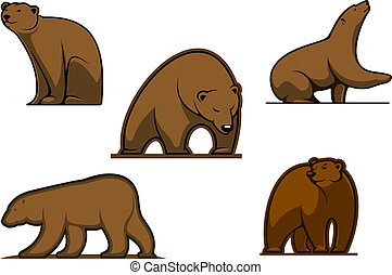 Brown colored bear characters