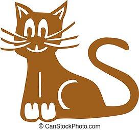 Brown comic cat