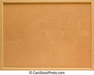 corkboard - brown corkboard with important message