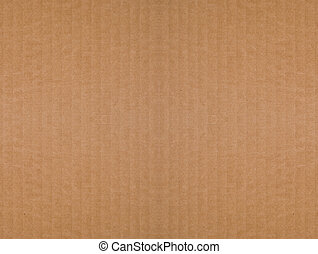 Brown corrugated cardboard background - Seamless, tileable,...