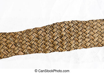 Brown Corrugated paper on cork background