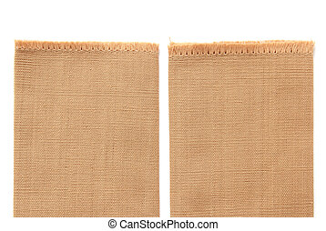 brown cotton isolated on white background