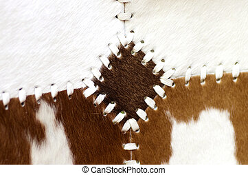 Brown cow fur background