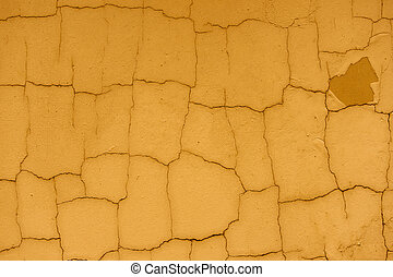 Brown cracked wall surface