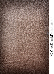 Brown crackled leather background shot square on