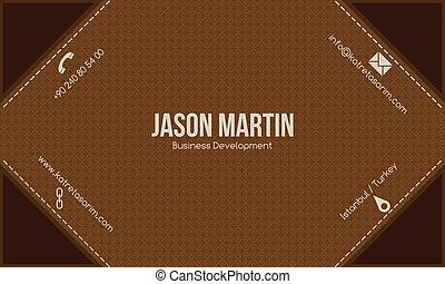 Brown creative business card.