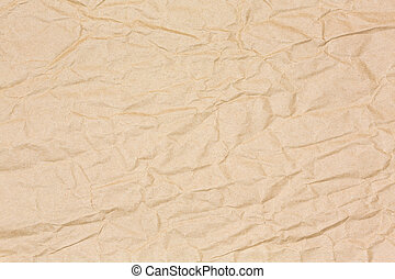 Brown crinkled paper