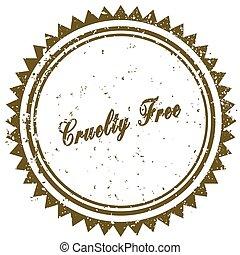 Brown CRUELTY FREE grunge stamp