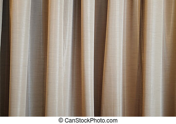 Brown curtain ideal for backgrounds