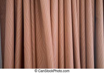 Brown curtain window