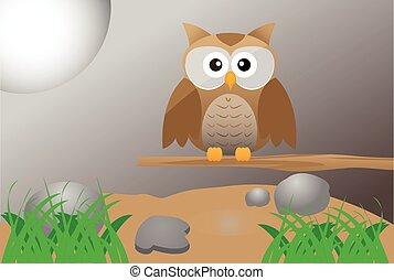 Brown Cute Owl