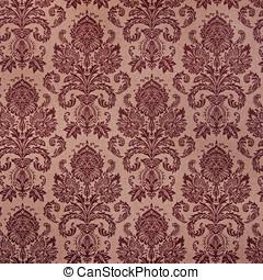 brown damask floral pattern