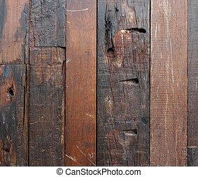 Brown dark wooden fence background