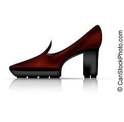 brown demi shoe