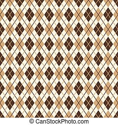 Brown diamond pattern - endless