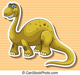 Brown dinosaur with happy face