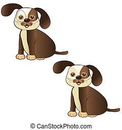 brown dog sitting
