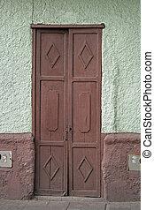 Brown Door in a Building