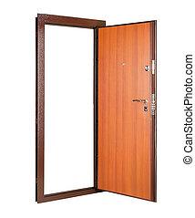 door isolated on white
