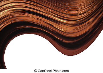 Brown dynamic waves over white