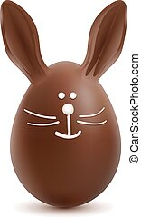 Brown Easter Bunny Chocolate Egg
