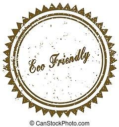 Brown ECO FRIENDLY grunge stamp