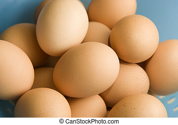 Brown eggs - Fresh brown eggs in basket