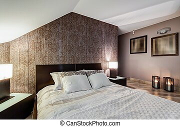 Brown elegant bedroom