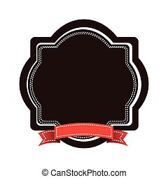 brown emblem with red ribbon icon