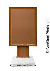 Brown empty vertical billboard