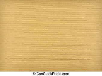 Brown envelope made ??of striped paper