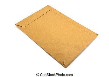 Brown Envelope on white background