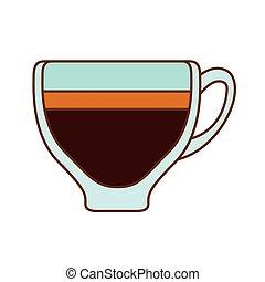 Brown espresso glass icon design