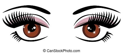 Brown Eyes - vector brown eyes