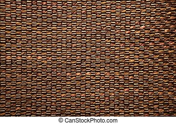 Brown fabric and leather texture background
