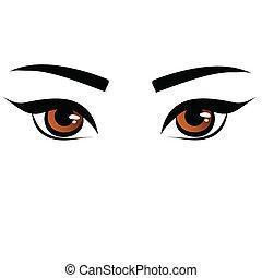 brown female eyes