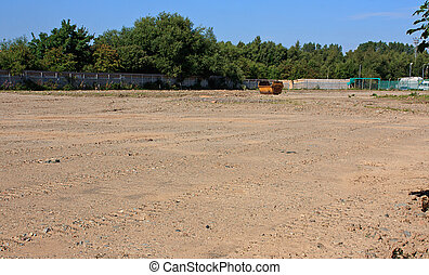 Brown field site - Prepared brown field site flattened and ...