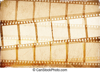 brown film strip for textures and backgrounds frame for your data