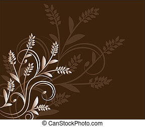 Brown Floral Background - Abstract background in brown color...