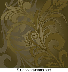 Brown floral background - abstract brown background with...