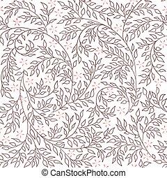 Brown floral seamless pattern