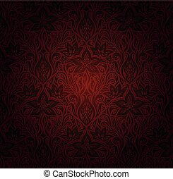 Brown Flower wallpaper vector design background