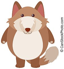 Brown fox with happy face