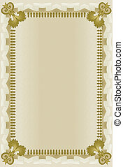 brown frame with wavy grid