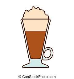 Brown frappe glass icon design