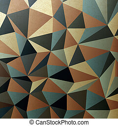 Brown gamut triangle patch surface. Abstract background, vector, EPS10