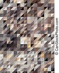 Brown geometric art of triangle shape pattern