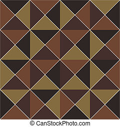 Brown geometric seamless pattern